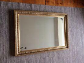 Large gold framed mirror - Excellent condition