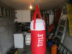 2ft Title Punch Bag & with gloves & Accessories
