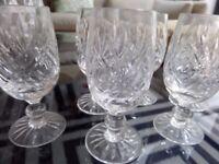11 Fine Cut Crystal Shot Liqueur Sherry glasses Watford & Edinburgh crystal - vintage 1970s - MINT