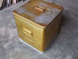 OLD TIN BOX WITH LOADS OF JUGS