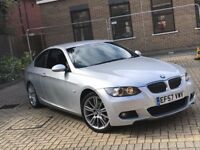 2007 BMW 320D 3 SERIES 2.0 M SPORT COUPE DIESEL MANUAL EXCELLENT DRIVE SILVER NOT 325 330 5 X5 X3 C