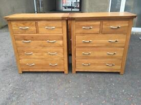 Ex-display**Solid oak chest of drawers ONLY £215 each