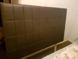 Leather headboard for double bed