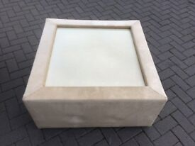COFFEE TABLE - LARGE - SQUARE - MATERIAL BASE - GLASS