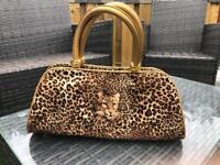 Butler& Wilson leopard print bag