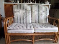 Conservatory furniture. 2 seater settee and chair