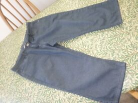 COTTON TRADERS CROPPED DENIM JEANS -14