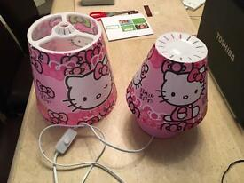 Hello Kitty Bedside lamp and light shade