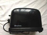 Black Russel Hobbs toaster