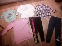 BARGAIN! JOB LOT OF 40 CLOTHES ITEMS FOR TEENS / LADIES - SUMMER SHIRTS- DRESSES - JEANS - TRAINERS