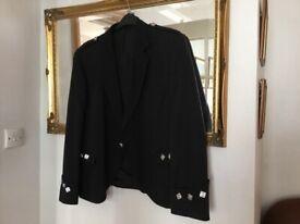 Gents Black Argyle Kilt Jacket