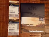 The Open Golf Championship 2018 - 2 x weekend tickets at Carnoustie, St. Andrews 21/22 Jul 18