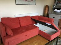Sofa Bed from John Lewis, storage underneath, excellent condition