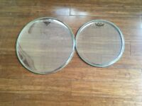 Drum Heads - Remo Emperor Clear - 16 and 13 (brand new)