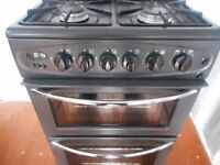 BELLING DOUBLE OVEN ALL GAS COOKER**ANTHRECITE**