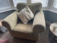 Lovely Armchair, 2 Seater Sofa Suite + footstool
