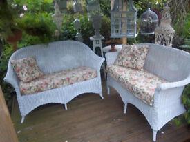 vintage cane sofas