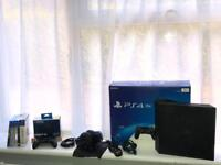 PS4 Pro with 5 games, extra controller, Sony Headset, Camera