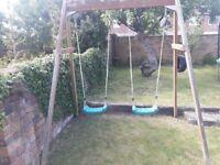 Plum double swing.