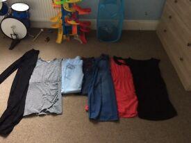 Bundle of maternity clothes sizes 10/12