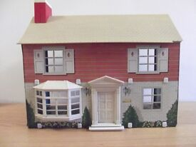 vintage Colonial style dolls house tin litho 1974 Marx 2 Rare collectible in USA and UK metal