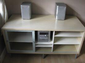 Ikea white stained oak veneer cabinet