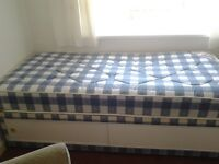 3' x 6' single bed with matress and under bed storage