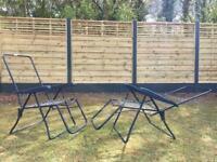 2 x Anthracite Recliner Sun Lounger Garden Patel Chairs