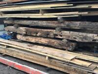 Rustic Solid Oak Beams, True Characteristic Oak Beams
