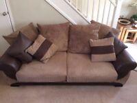 Brown Sofa, Good condition Smoke free home