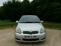 TOYOTA YARIS AUTOMATIC 2004 TSPRIT 5DOOR 1LADY OWNERS MOT TILL 18/05/2018 78000 WARRANTED MILES