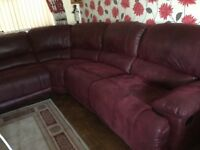 Large Reclining corner sofa and chair
