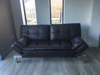 Italian sofa bed in brown