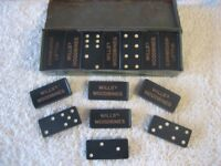 Wills Woodbine Dominoes in original tin box