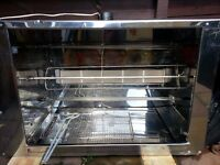 CHICKEN ROTISSERIE, USED, GAS LPG/NATURAL BBQ, 12V, 10 CHICKEN CAPACITY