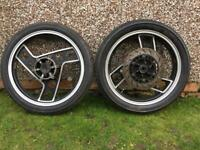 Yamaha RD350 YPVS wheels