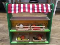 Wooden play shop/ stall