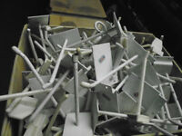 boxes of Slat Wall Hooks metal and plastic