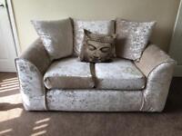 2 Crushed Velvet Sofas