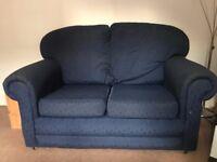 Two-seat Navy Sofa