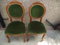 Upholstered back Victorian style Dining chairs x 6