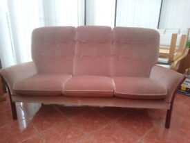 Vintage Cintique Vermont 3 Seater Settee/Sofa