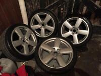 Audi sline alloy wheels new tyres 18 inch golf, a3,a4,a6,Passat, etc etc