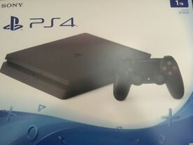PS4 Playstation 4 slim 1tb new and sealed in box