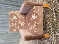 Vintage 1950/60 office reception chair, reupholstered, good condition. £40