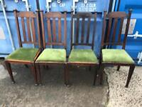 4 vintage oak chairs FREE DELIVERY PLYMOUTH AREA