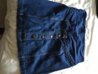 Maternity size 12 topshop denim skirt