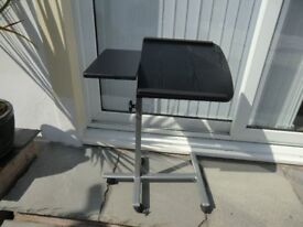 Twin top over Bed or Chair Table adjustable height and angle