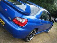 2002 SUBARU WRX 2.0 TURBO NEW MOT FSH VERY CLEAN EXAMPLE 260 BHP DRIVES GREAT MAY PX NO OFFERS