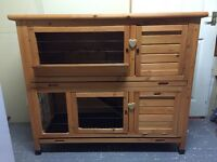 Double Rabbit / Guinea Pig Hutch & Cover
